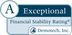 A Exceptional Fiancial Stability Rating® DemoTech, Inc.